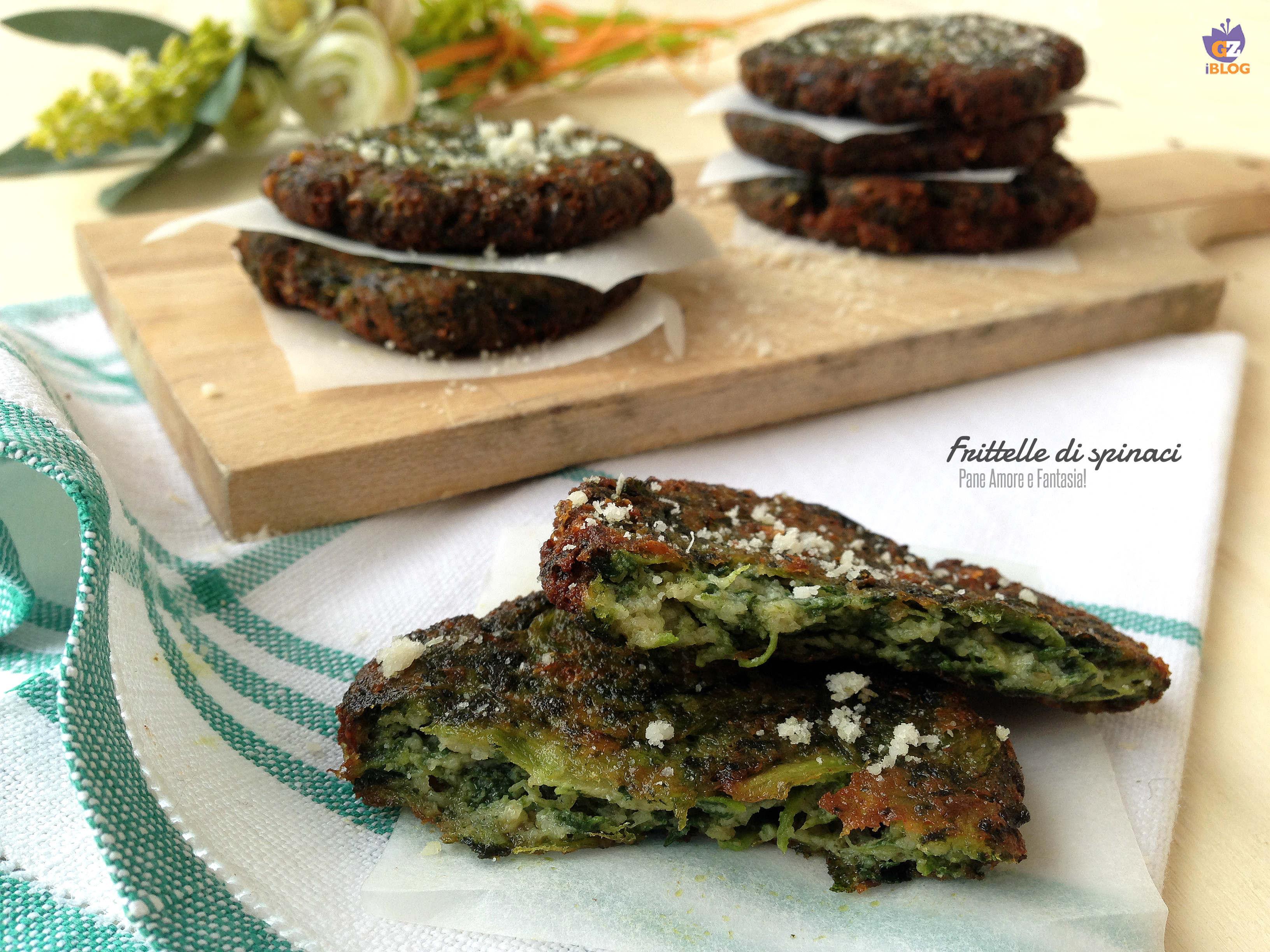 frittelle di spinaci o