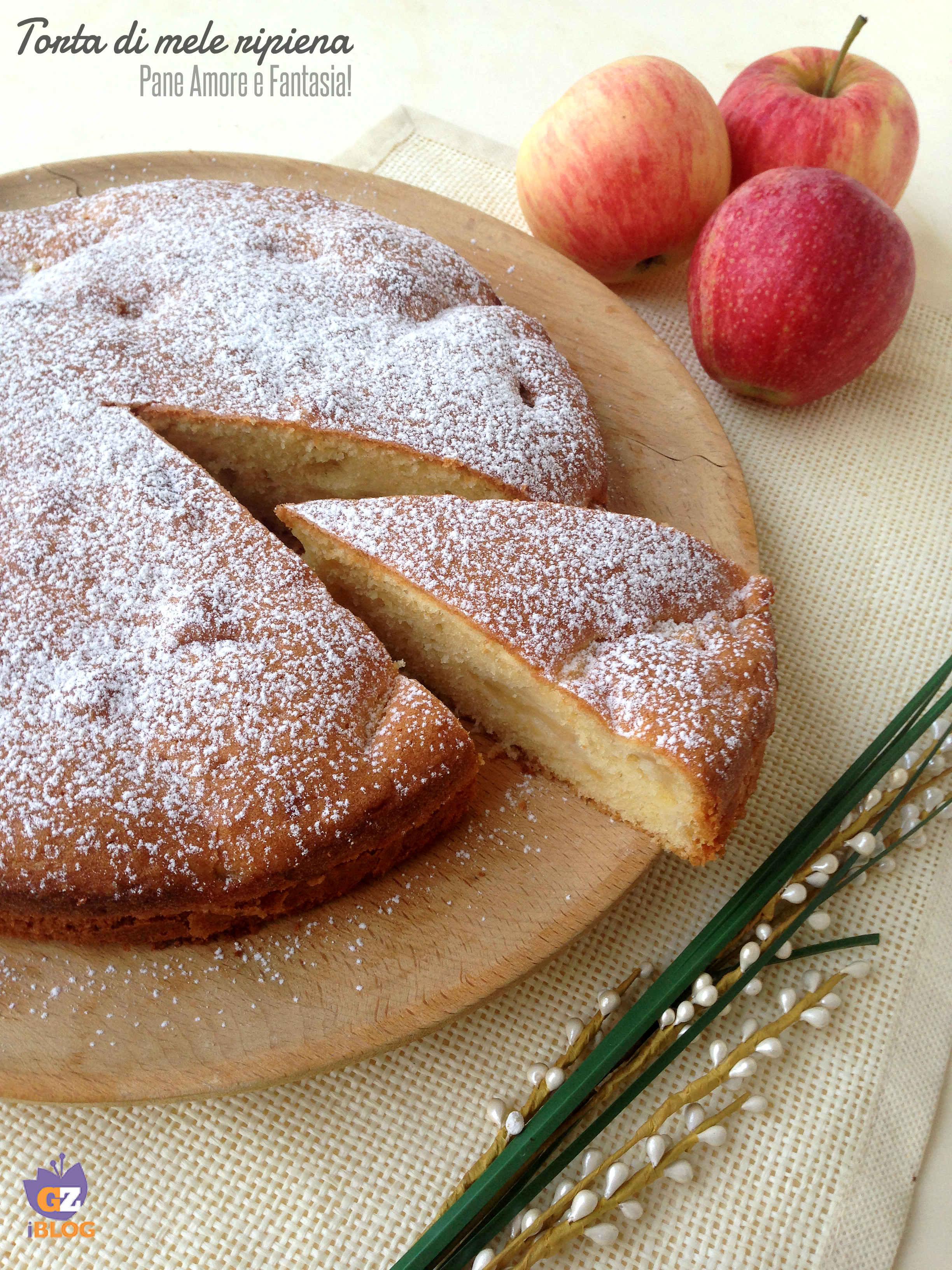 torta di mele ripiena