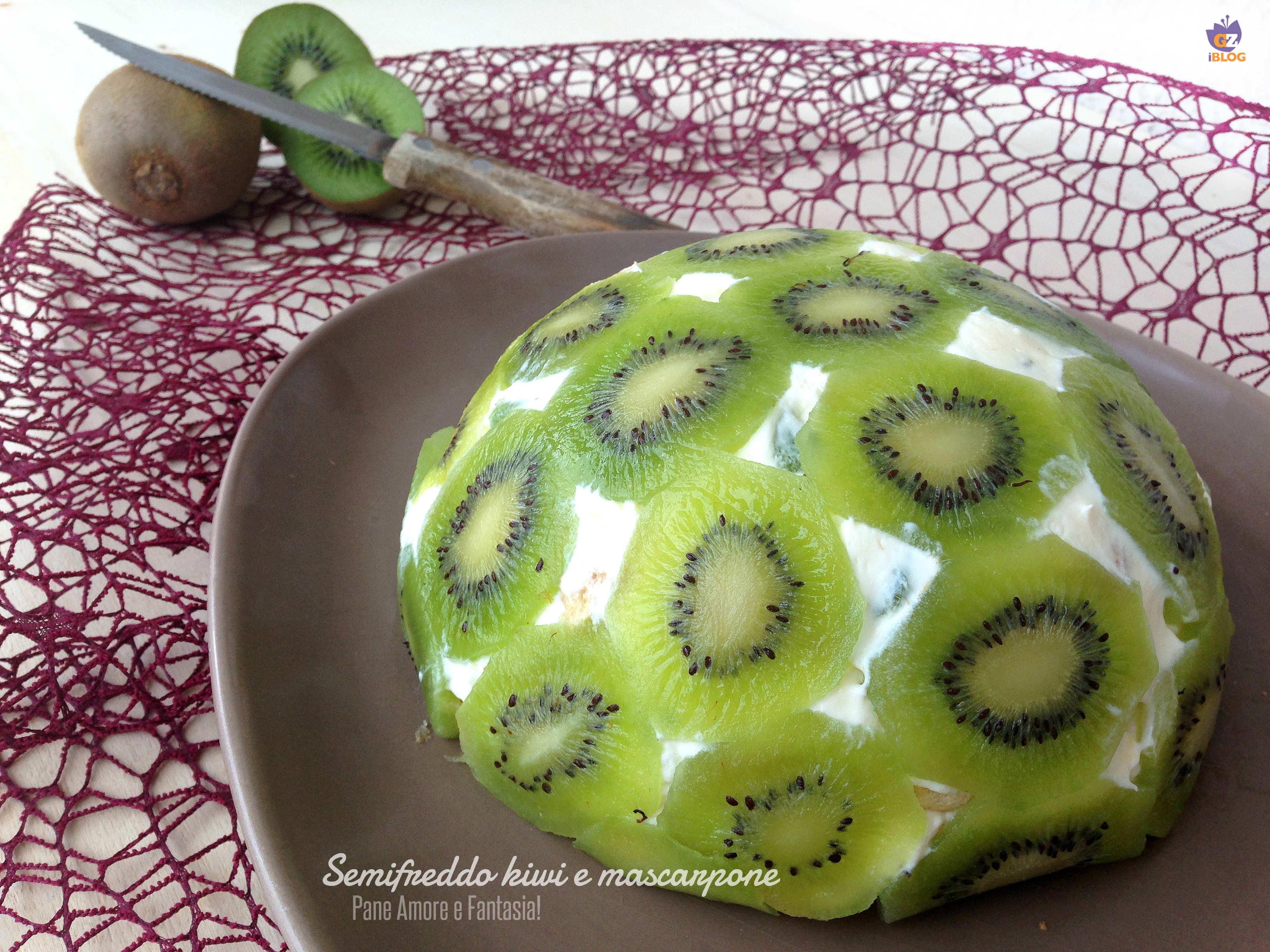 semifreddo kiwi e mascarpone