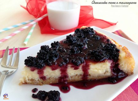 Cheesecake more e mascarpone, senza cottura
