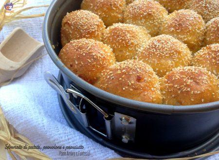 Sformato di patate, provolone e prosciutto