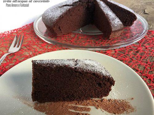 Torta acqua e cioccolato (anche Bimby)