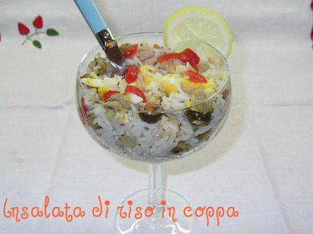 Insalata di riso in coppa