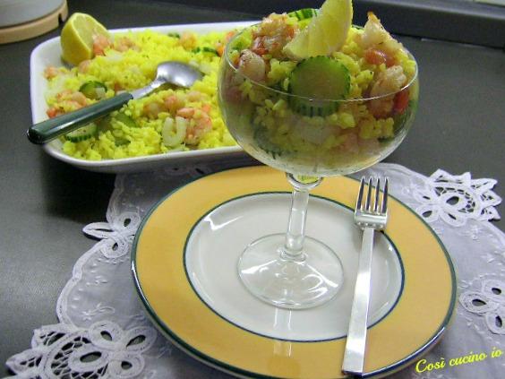 Insalata di riso giallo in coppa-Così cucino io