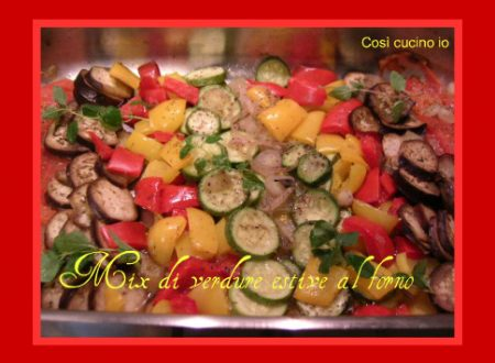 Mix di verdure estive al forno
