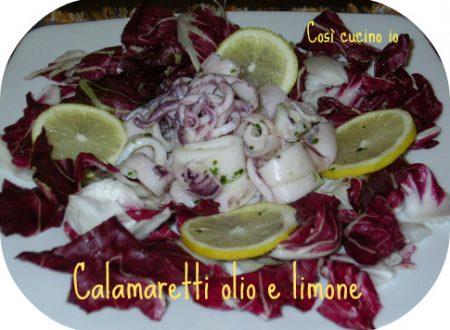 Calamaretti olio e limone