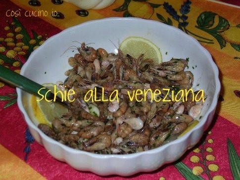 Schie alla veneziana e fritte