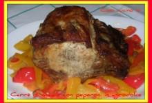 Carre' di maiale con peperoni in agrodolce