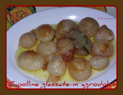 Cipolline glassate agrodolce