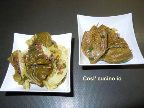 Bis carciofi trifolati e broccoletti in salsa di olive taggiasche