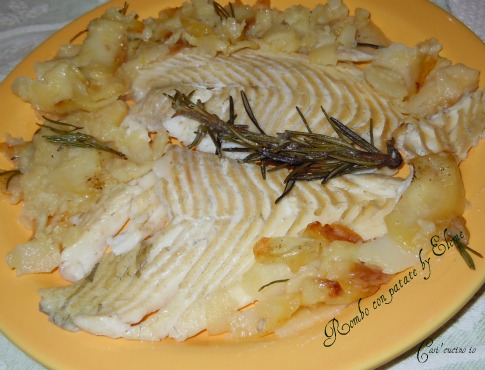 Rombo al forno con patate - Così cucino io