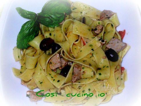Pappardelle pesce spada e olive