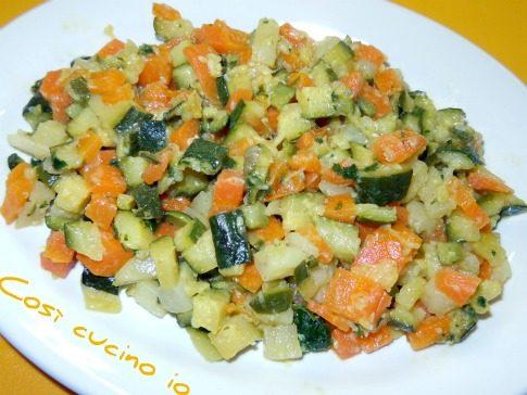 Mix di verdure al salto