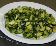 Zucchine trifolate alla menta