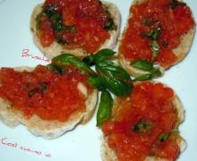 Bruschette al pomodoro fresco