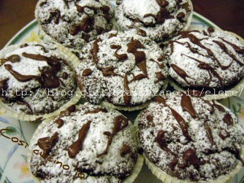 Muffins cioccolato e pere