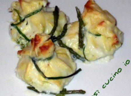 Fagottini agli asparagi e ricotta