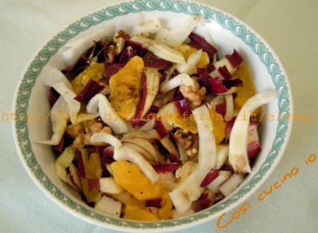 Insalata di arance radicchio e finocchi