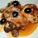 Merluzzo in guazzetto con olive e pomodori secchi