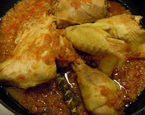 Pollo alla cacciatora e……….tagliatelle fatte in casa