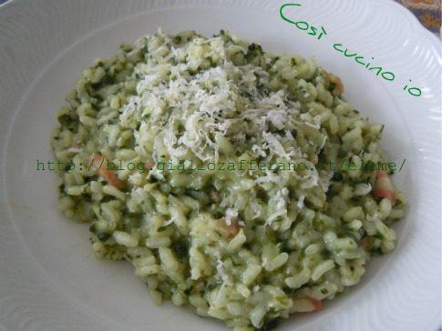 Risotto di spinaci e pancetta