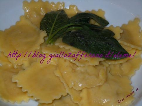 ravioli ricotta e spinaci al burro fuso così cucino io