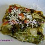 Pasticcio di asparagi e provola affumicata