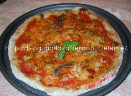 Pizza di kamut alle acciughe