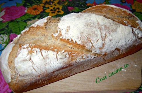 Filone di pane al farro