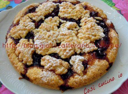 Torta con marmellata di ciliegie (ricetta rustica)