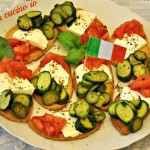 Crostini tricolore ricetta fingerfood