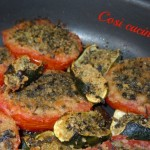 Gratin di pomodoro e zucchine