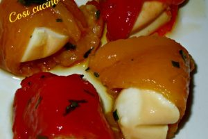 Involtini di peperone e provola affumicata
