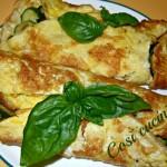 Omelette zucchine e pecorino romano