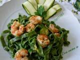 Tagliatelle verdi gamberi e zucchine2