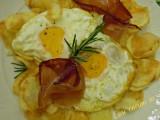 Uova speck e patatine