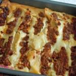 Pennoni (uso cannelloni) al forno