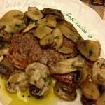 Filetto di manzo ai funghi champignons