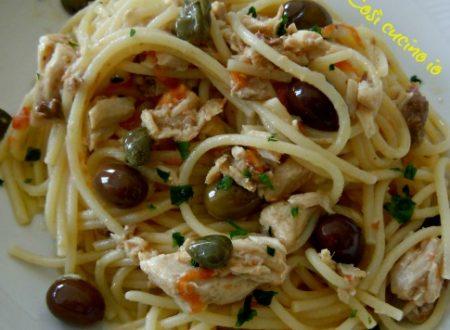 Spaghettini al sugo di ricciola