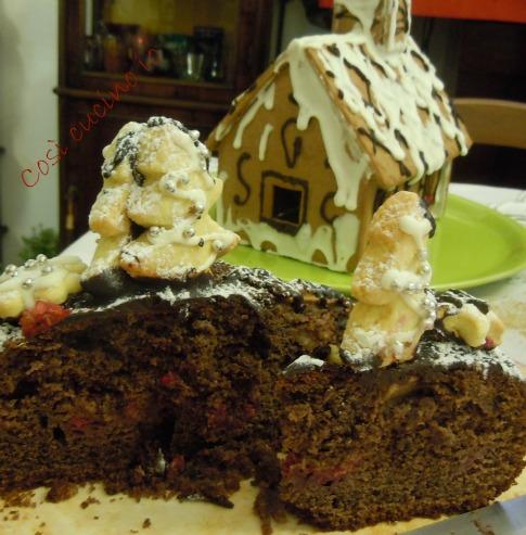 Torta natalizia pere lamponi