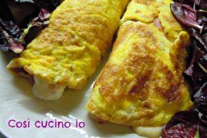 Omelette al prosciutto cotto e crescenza