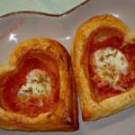 Pizzette cuori di sfoglia
