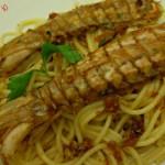 Spaghetti al sugo di canocchie