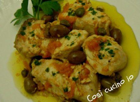 Ricciola in tegame ai capperi e olive taggiasche