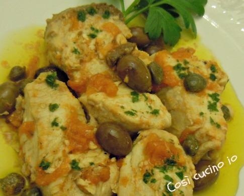 Ricciola in tegame con capperi e olive taggiasche Così cucino io