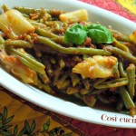 Fagiolini e cipollotti al pomodoro (ricetta con la pentola a pressione)