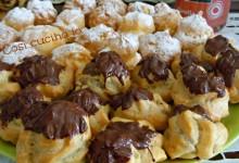 Bignè bicolori, ricetta dolce