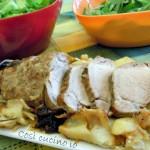 Filetto di maiale con patate e prugne (ricetta agrodolce)