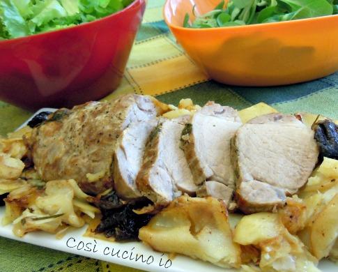 Filetto di maiale patate e prugne-Così cucino io