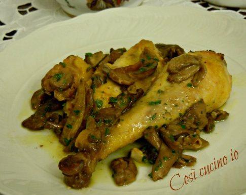 Pollo ai funghi porcini, ricetta secondi piatti